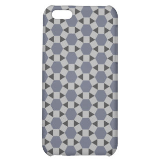 Geometric Tessellation Pattern in Grey and Blue iPhone 5C Covers