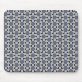 Geometric Tessellation Pattern in Grey and Blue Mouse Pad