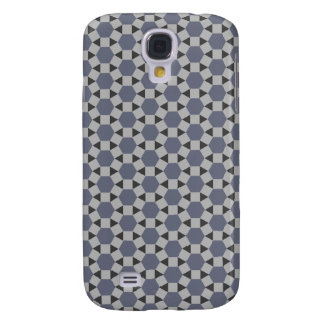 Geometric Tessellation Pattern in Grey and Blue Samsung S4 Case