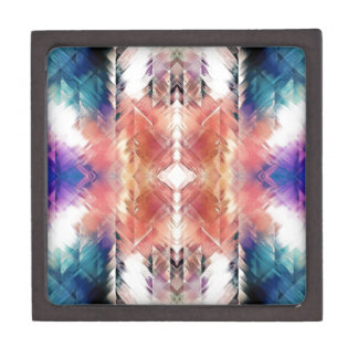 Geometric Textural Abstract Gift Box