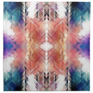 Geometric Textural Abstract Napkin