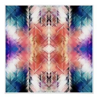 Geometric Textural Abstract Poster