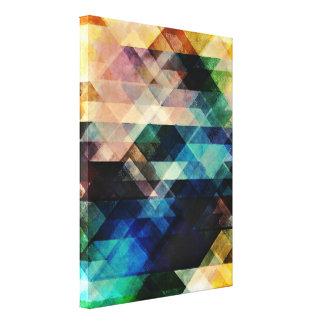 Geometric Textural Colorations Canvas Prints