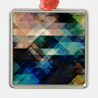 Geometric Textural Colorations Metal Ornament