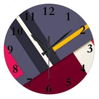 Geometric theme large clock