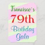 "[ Thumbnail: Geometric Themed ""79th Birthday Gala"" Invitation ]"