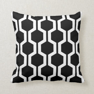 Geometric Throw Pillow in Black and White