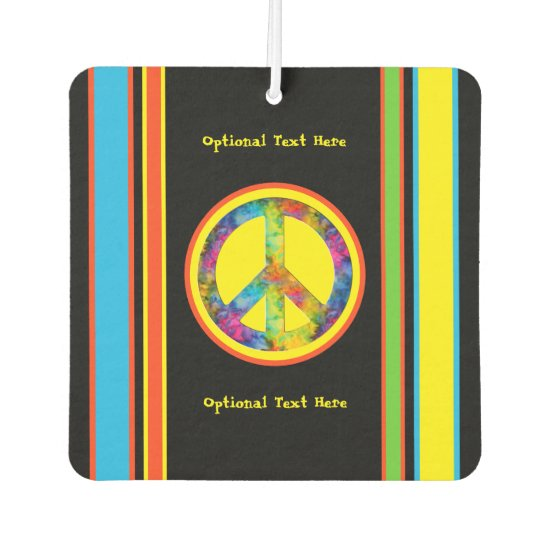 [Geometric Tie-Dye] Stripes with Peace Sign Air Freshener
