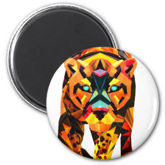 Geometric Tiger Prowl Magnet