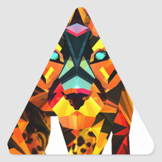 Geometric Tiger Prowl Triangle Sticker