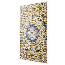 Geometric tile pattern, Morocco Canvas Print