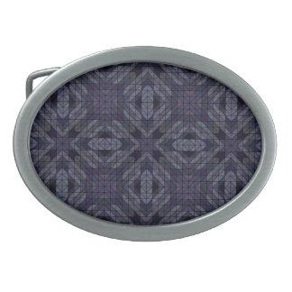 Geometric tiles repeat belt buckle