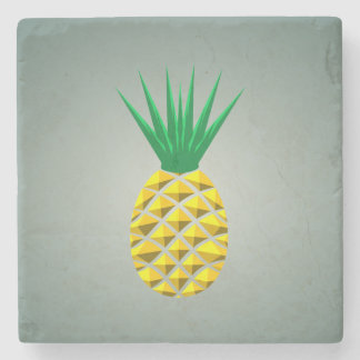 Geometric Trendy Stylized Pineapple Stone Coaster