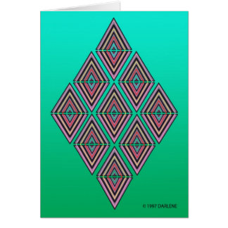 Geometric Triangle Card by DARLENE