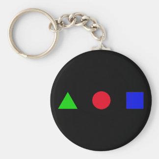 geometric - triangle, circle and square keychain