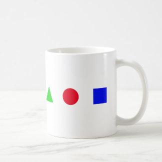 geometric - triangle, circle and square coffee mug
