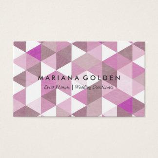 Geometric Triangle Hip Modern Business Card