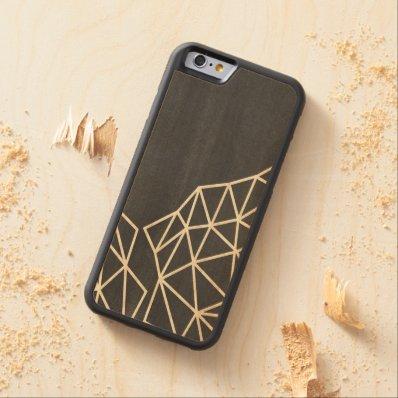 Geometric triangle modern carved® maple iPhone 6 bumper