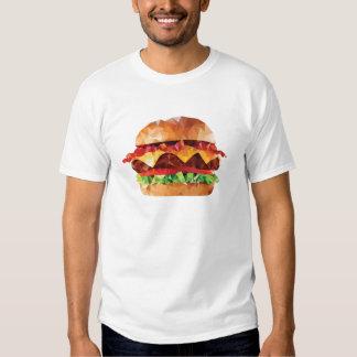 Geometric Triangle Mosaic Bacon Cheeseburger T-Shirt