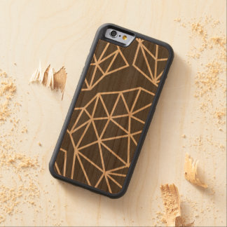 Geometric triangle pattern carved cherry iPhone 6 bumper case