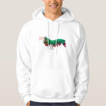 Geometric Triangle Peacock Mantis Shrimp Hoodie