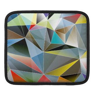 Geometric Triangles Abstract Colorful Diamonds iPad Sleeve