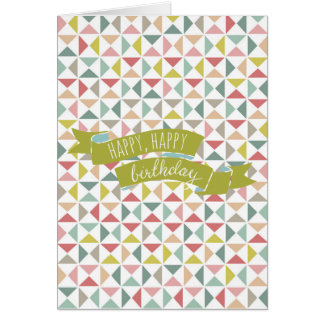 Geometric Triangles Card