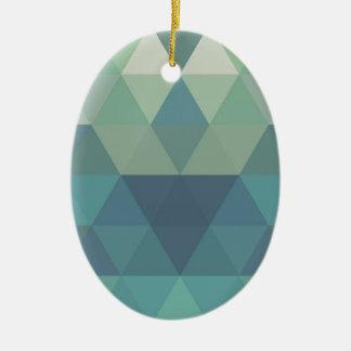 Geometric Triangles Ceramic Ornament