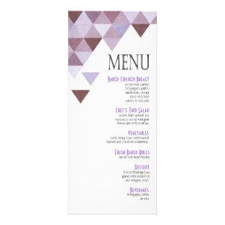 Geometric Triangles Dinner Menu | periwinkle Invites