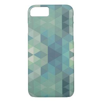 Geometric Triangles - Fresh Water iPhone 8/7 Case
