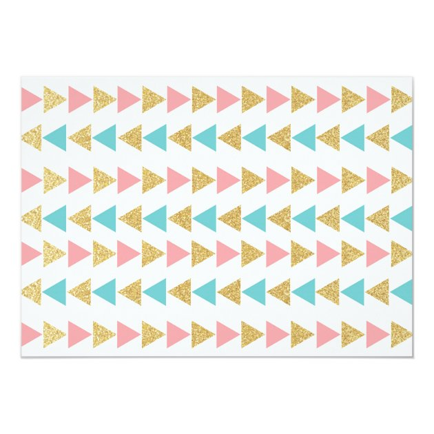 Geometric Triangles Graduation Invitations (back side)
