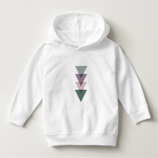 Geometric Triangles in Green & Purple Hoodie