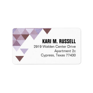 Geometric Triangles Mailing | periwinkle aubergine Label
