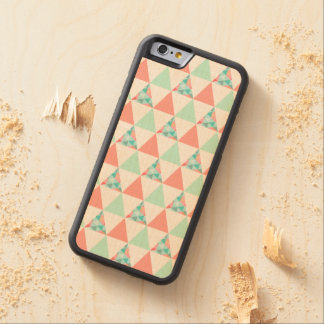 Geometric Triangles Mint Green Coral Pink Pattern Maple iPhone 6 Bumper