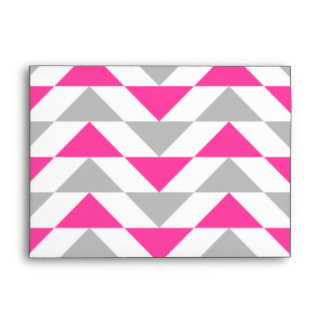 Geometric Triangles Pink Grey White Pattern Envelope