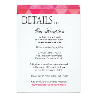 13+ Geometric Wedding Reception Insert Invitations ...