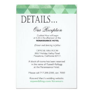 Geometric Triangles Reception Details | mint green Card