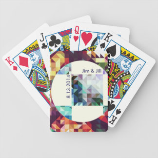 Geometric. Triangles + squares+ Cicles. Bicycle Playing Cards