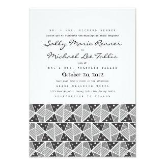 "Geometric Triangles Wedding Invitation 5"" X 7"" Invitation Card"