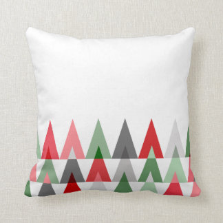 Geometric Triangles | white red green Pillow