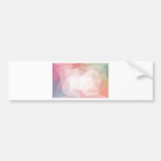 Geometric triangular art : Pink design Bumper Sticker