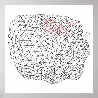 Geometric triangulation design poster