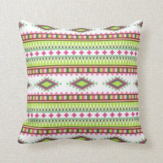 Geometric tribal aztec andes hipster navaj pattern throw pillow