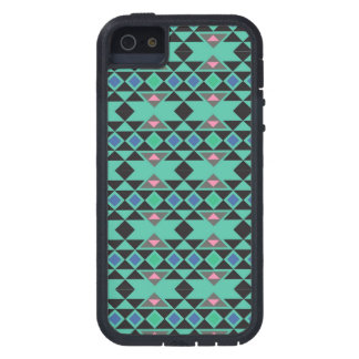 Geometric tribal aztec andes hipster teal pattern cover for iPhone 5