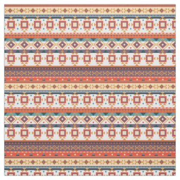 Geometric Tribal Aztec Pattern Fabric