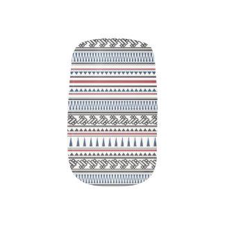 Geometric Tribal Pattern Minx navy blue) Minx® Nail Wraps