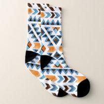 Geometric Tribal Pattern Socks