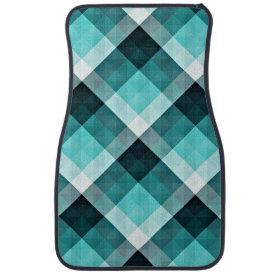Geometric Turquoise Floor Mat