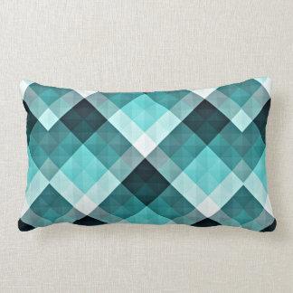 Geometric Turquoise Pattern Lumbar Pillow