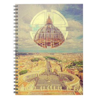 Geometric Vatican St Peter's Square Basilica Italy Notebook